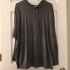 Grey pull over hoodie